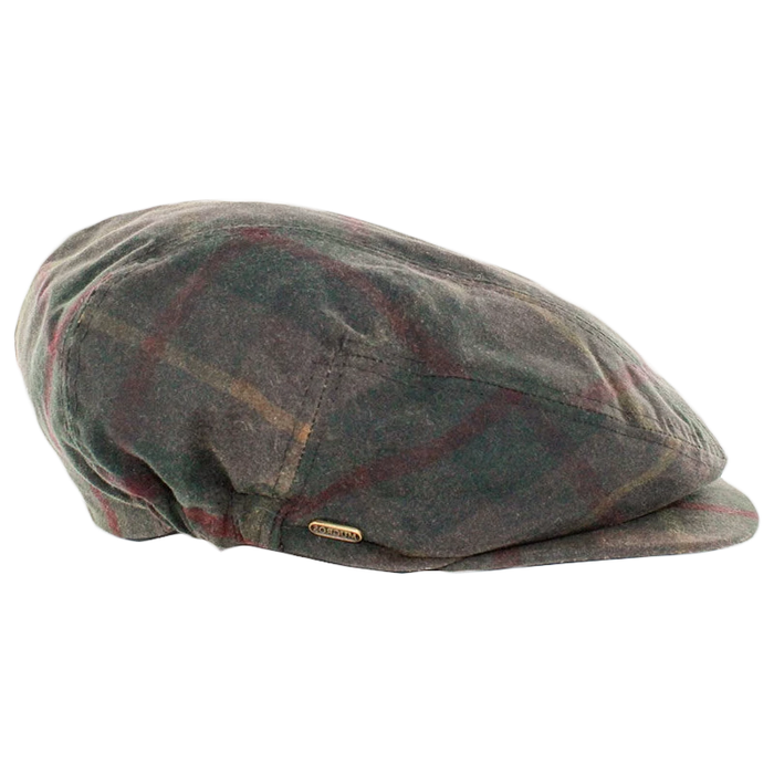mucros weavers kerry cap waxed green tartan