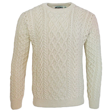 natural heavy crew neck sweater by west end knitwear
