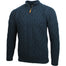 Men's Half Zip Aran Wool Sweater