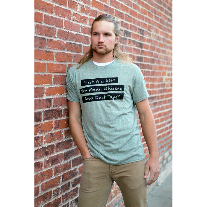 Whiskey and Duct Tape Snow Heather Fitted Tee