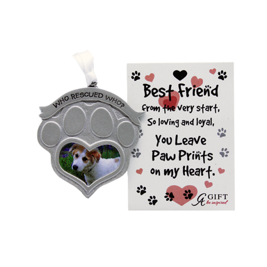 who saved who pet photo ornament by abbey gifts
