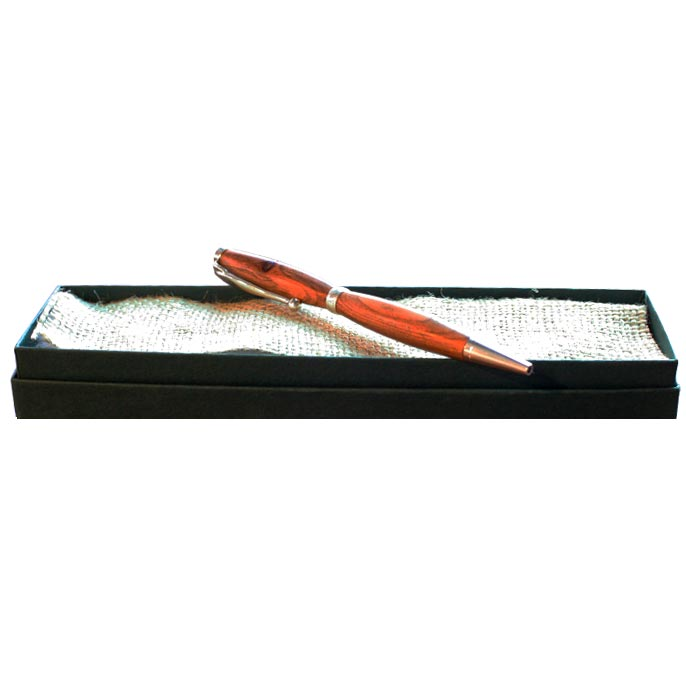 yew wood writing pen with box by eamon spillane
