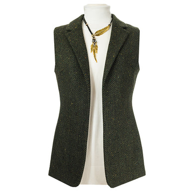 Ladies Wool Tweed Gilet Made In Ireland by Celtic Lady
