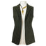 front of green ladies wool tweed gilet by celtic lady