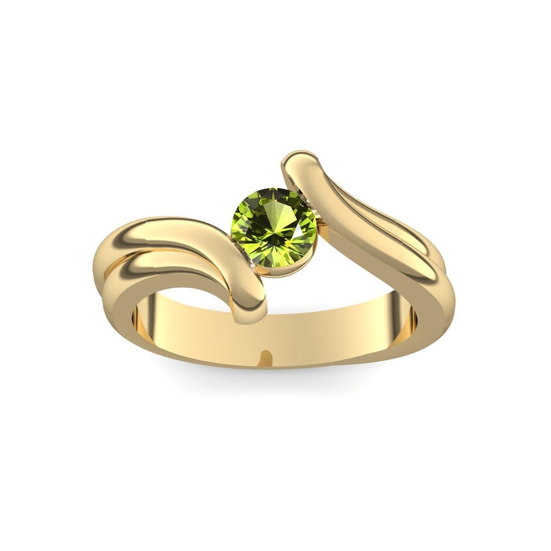 Antragsring Gelbgold Peridot