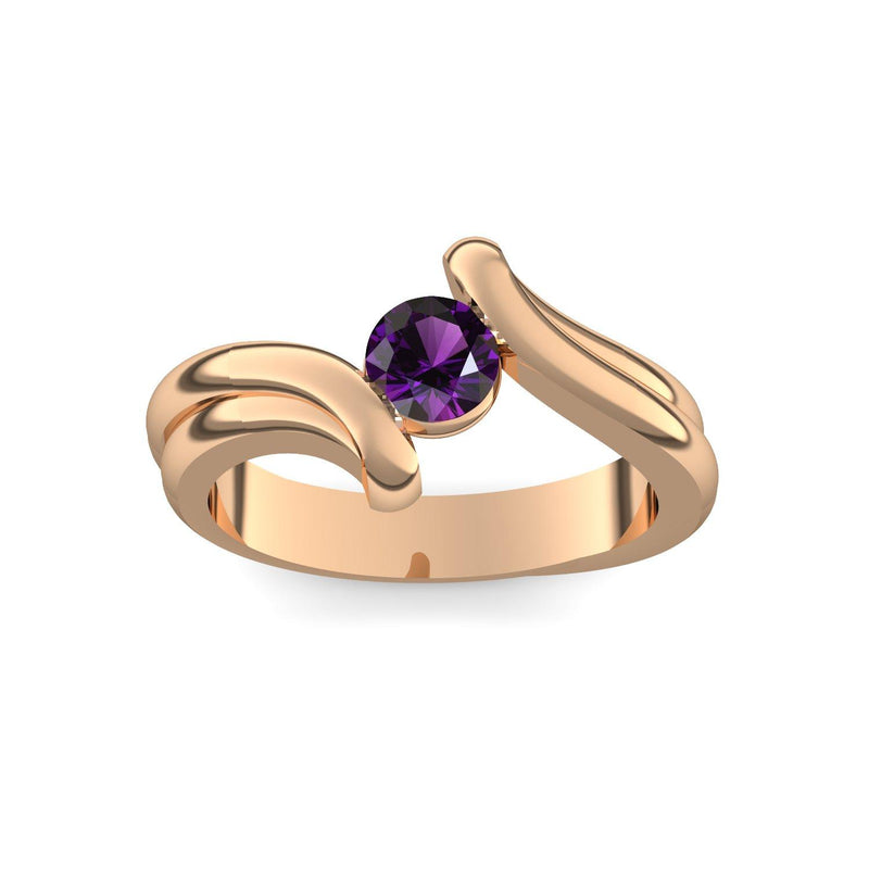 Tension Force - Rosegold 585 - Amethyst