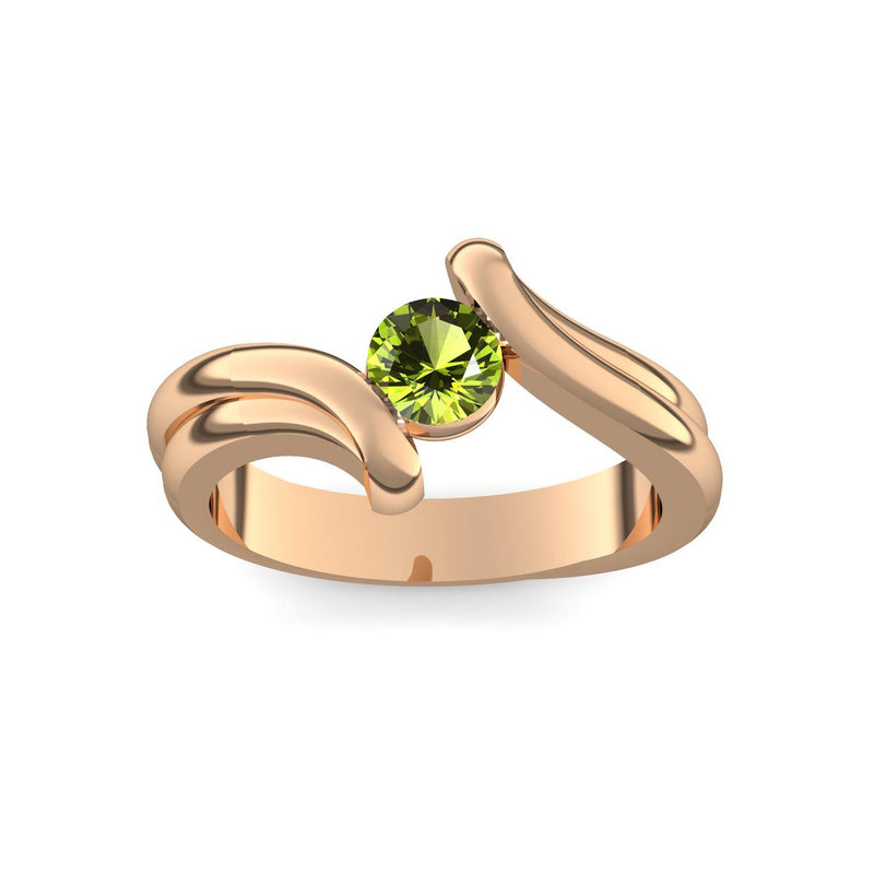 Tension Force - Rosegold 585 - Peridot