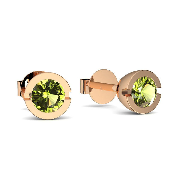 Beauty - Rosegold vergoldet - Peridot