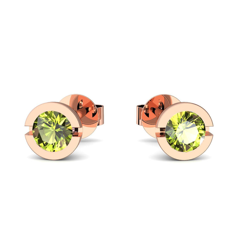 Beauty - Rotgold vergoldet - Peridot