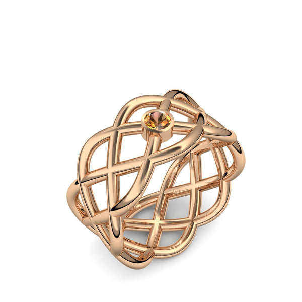 Twisted - Rosegold 585 - Citrin