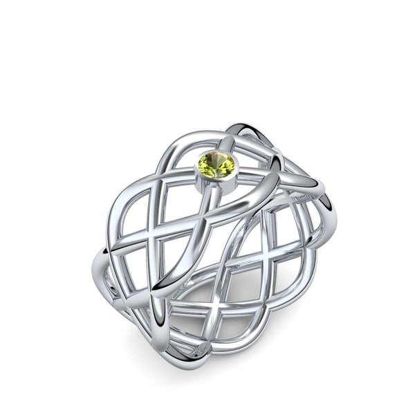 Twisted - Weißgold 585 - Peridot