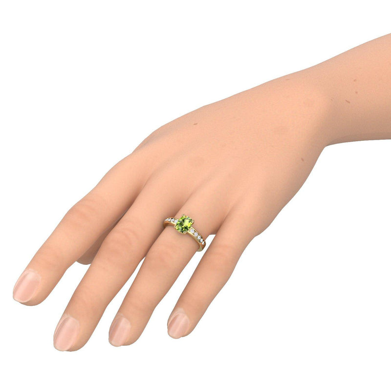 Love Affair - Gelbgold vergoldet - Peridot