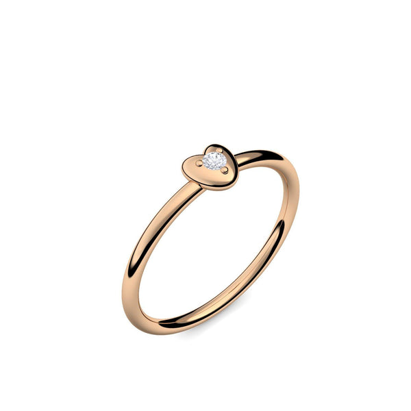 Cute Heart - Rosegold 585 - Brillant