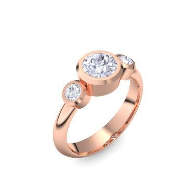 Tripple Emotion - Rosegold vergoldet - Brillant