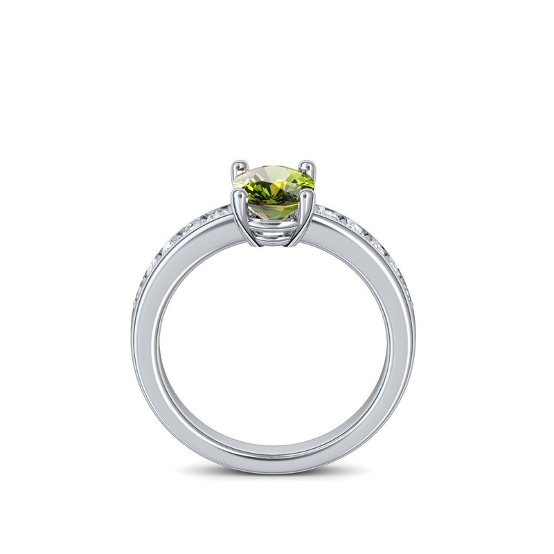 Love Affair - Platin 950 - Peridot