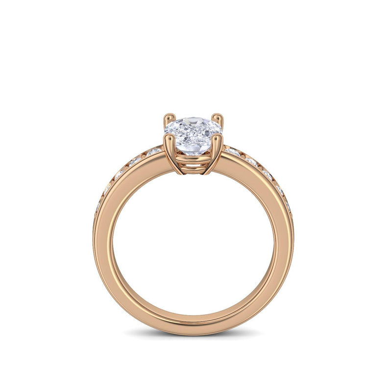 Love Affair - Rosegold 750 - Zirkonia
