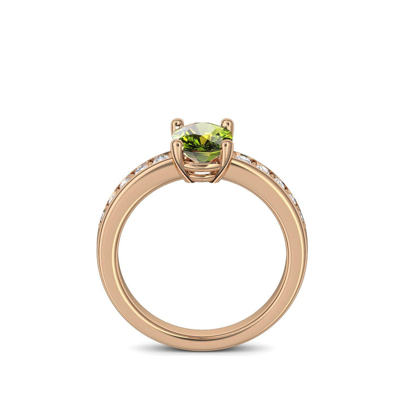 Love Affair - Rosegold vergoldet - Peridot