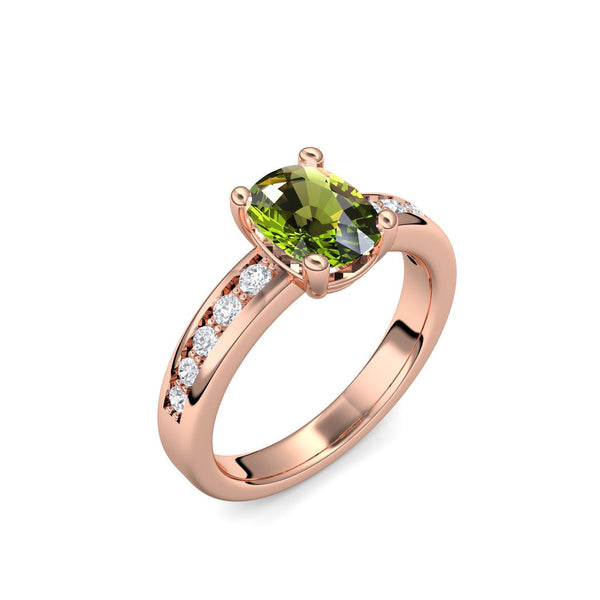 Love Affair - Rotgold vergoldet - Peridot