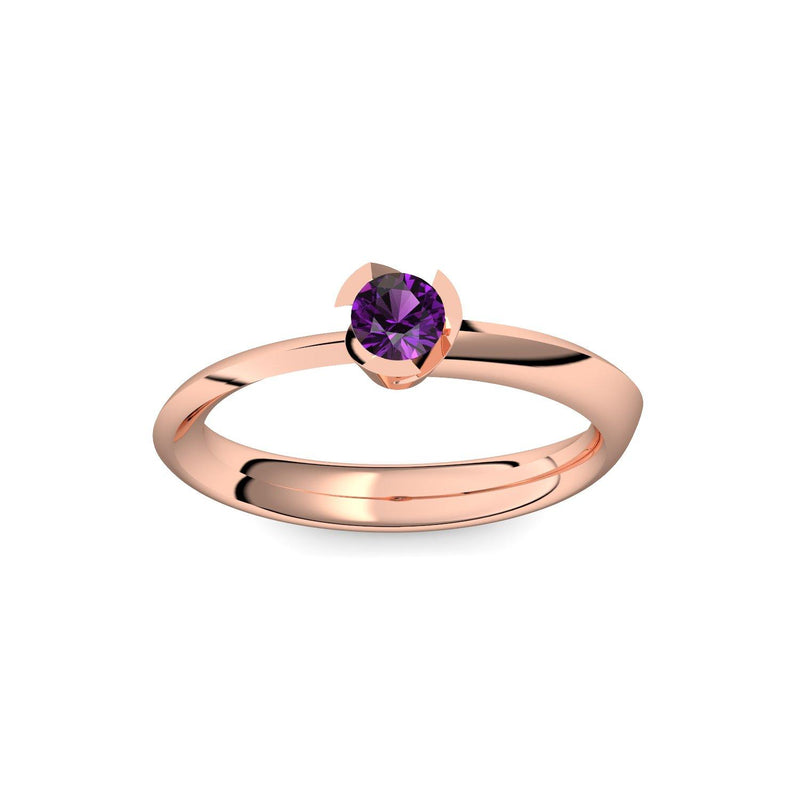 Modern Style - Rotgold 585 - Amethyst