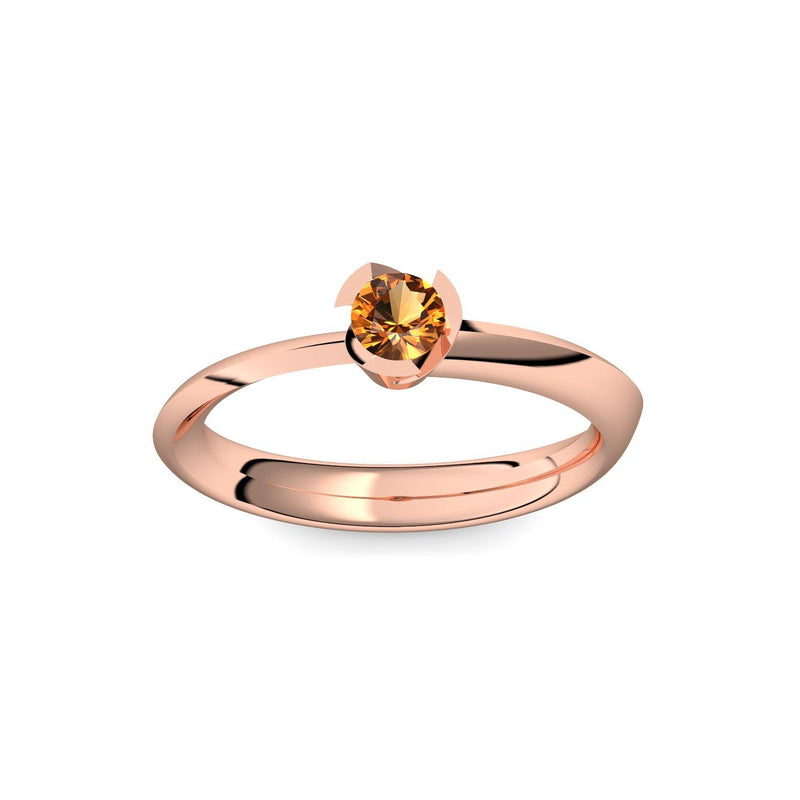 Ring Stein Rotgold Citrin