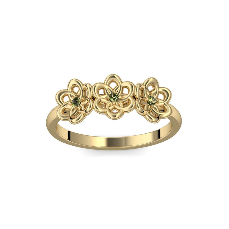 Little Flowers - Gelbgold 585 - Turmalin