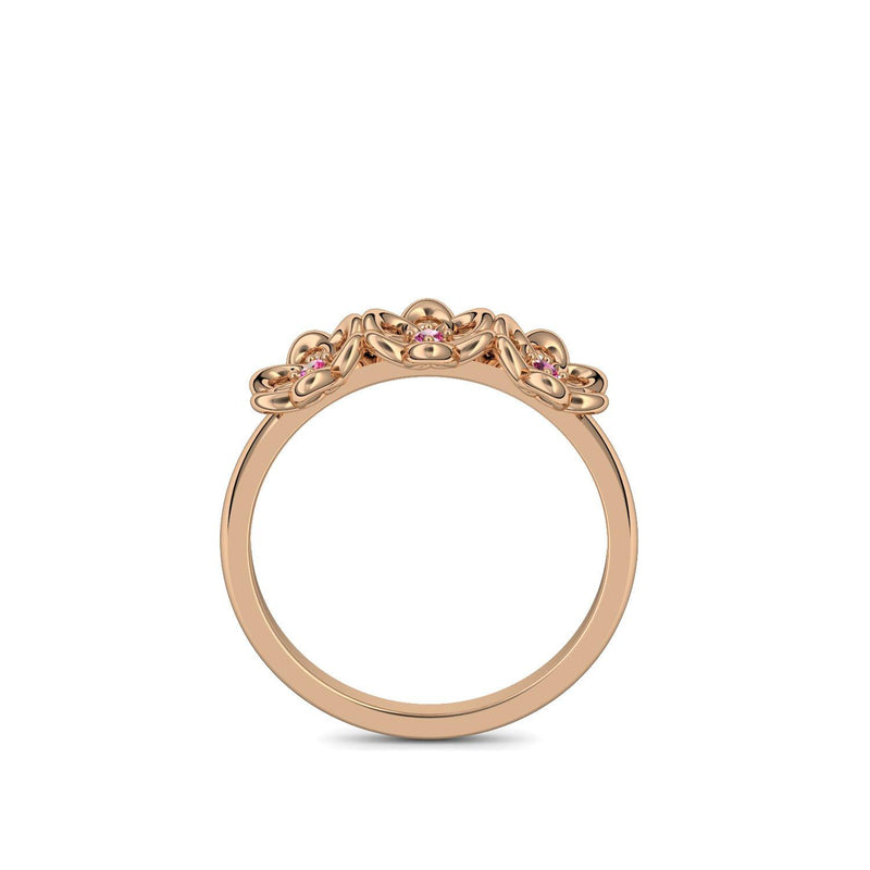 Little Flowers - Rosegold 585 - Rubin