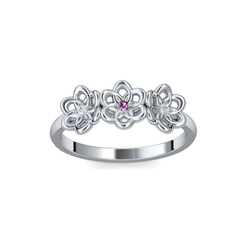 Little Flowers - Silber 925 - Amethyst