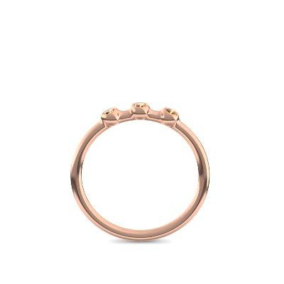 Slick triple - Rosegold 585 - Citrin