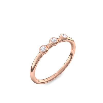Noble - Rosegold vergoldet - Brillant