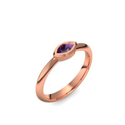 Vintage - Rotgold 585 - Amethyst