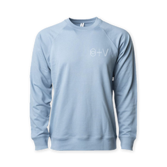 SURGEON MISTY BLUE CREWNECK