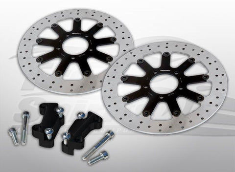 Brake Rotors Kit (320 mm) for Harley Davidson Dyna with Dual Disc - Free Spirits - 203706