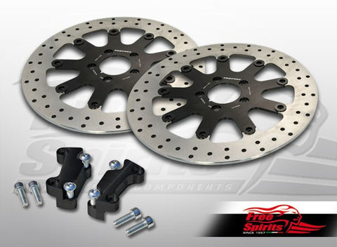 Brake Rotors Kit (320 mm) for Harley Davidson Sportster with Dual Disc - Free Spirits - 203705