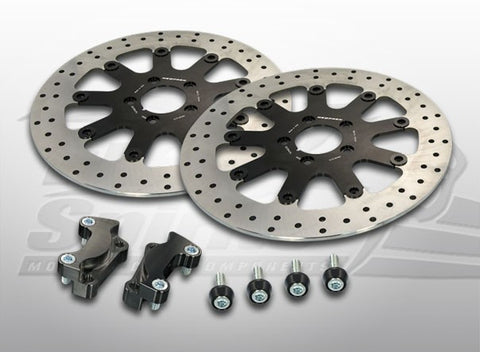 Brake Rotors Kit (320 mm) for Harley Davidson Touring (2008-2013) - Free Spirits - 203707