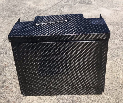 Carbon Fiber Battery Box Cover - Italian Performance Parts by Custom Design Studios