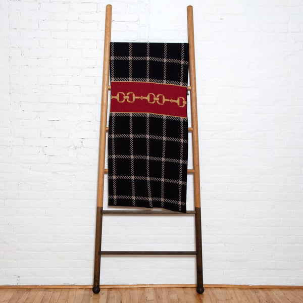 Eco Horse Bit Plaid Throw - The Polished Rider