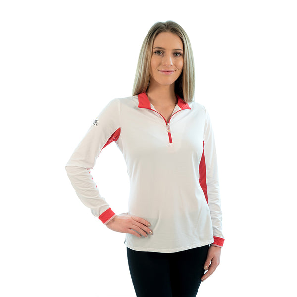 Charlotte Signature Collection White / Red Trim - The Polished Rider