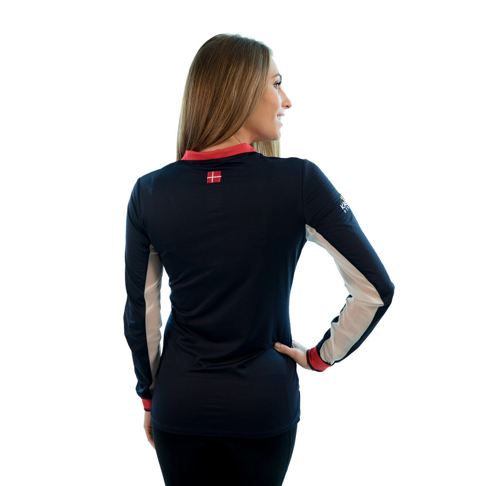 Charlotte Signature Collection Navy / Red Trim - The Polished Rider