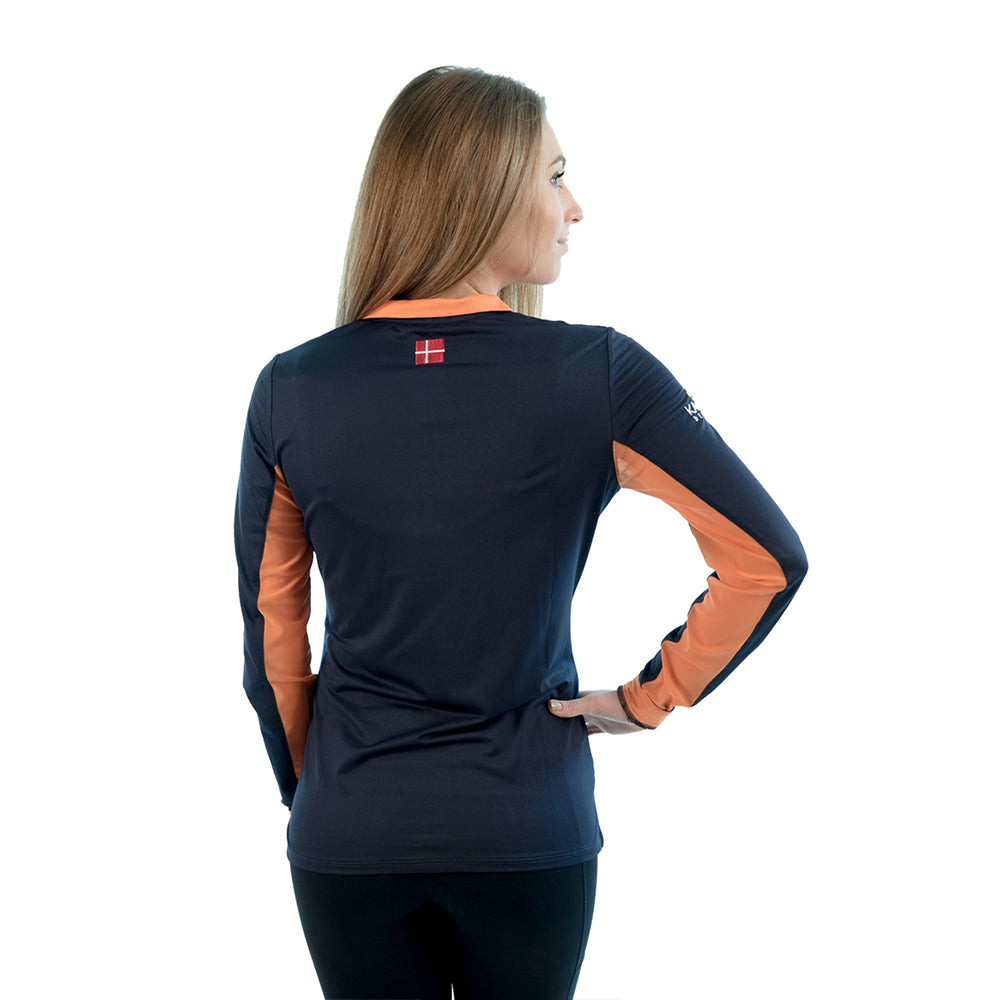 Charlotte Signature Collection Navy / Orange Trim - The Polished Rider