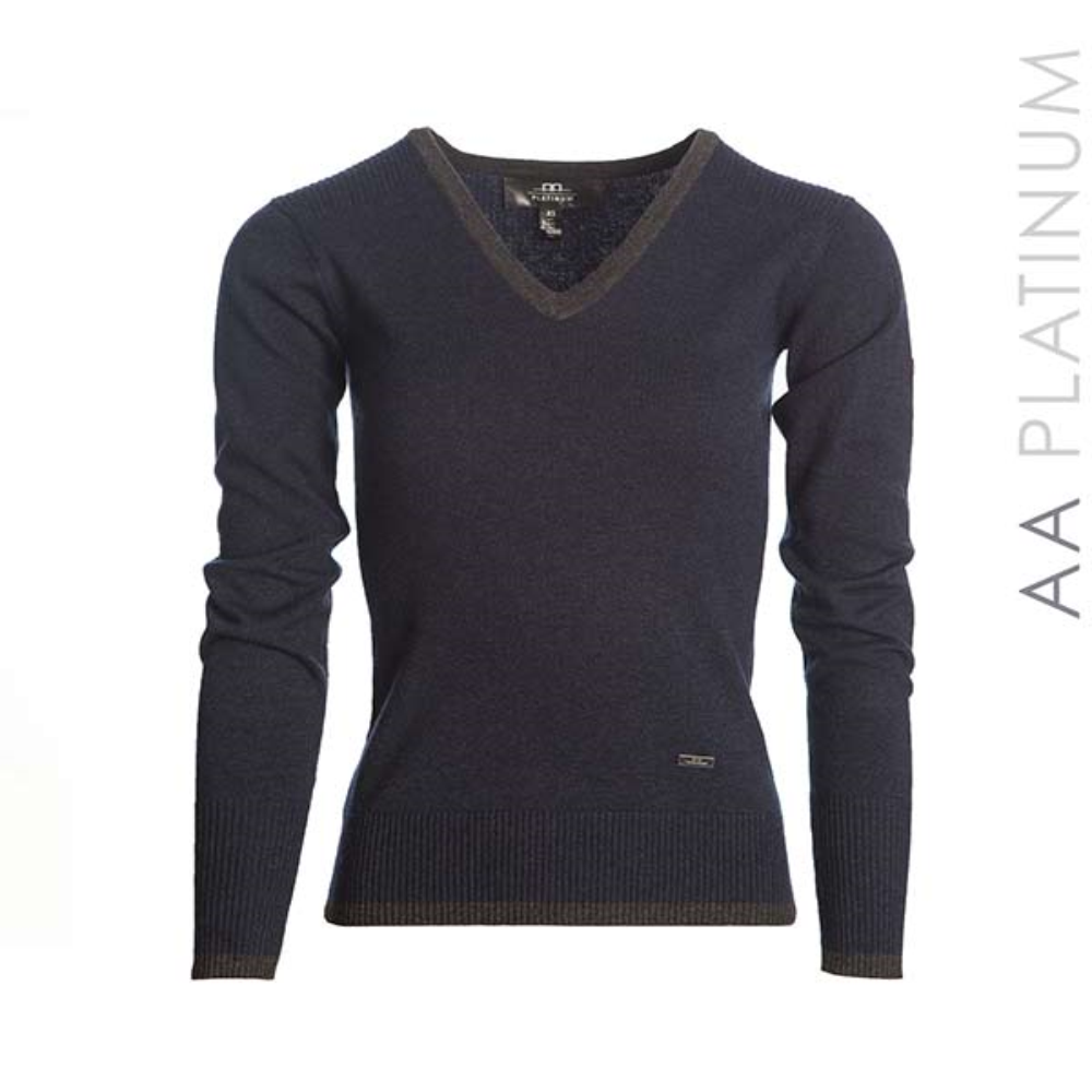 Asti Classic V Neck Sweater - The Polished Rider