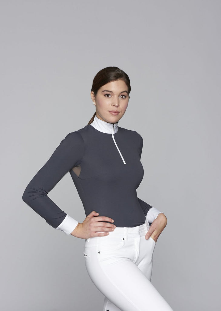 Charcoal w Charcoal Paulo Alto Zip Long Sleeve - The Polished Rider