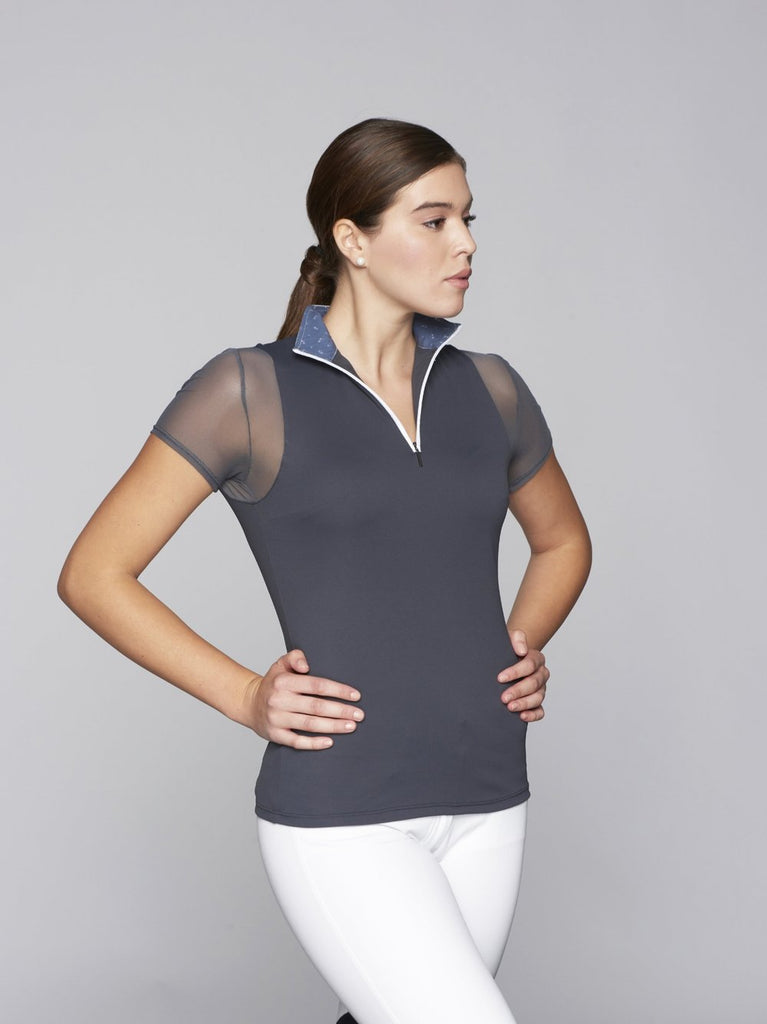Charcoal w Charcoal Paulo Alto Zip Short Sleeve - The Polished Rider