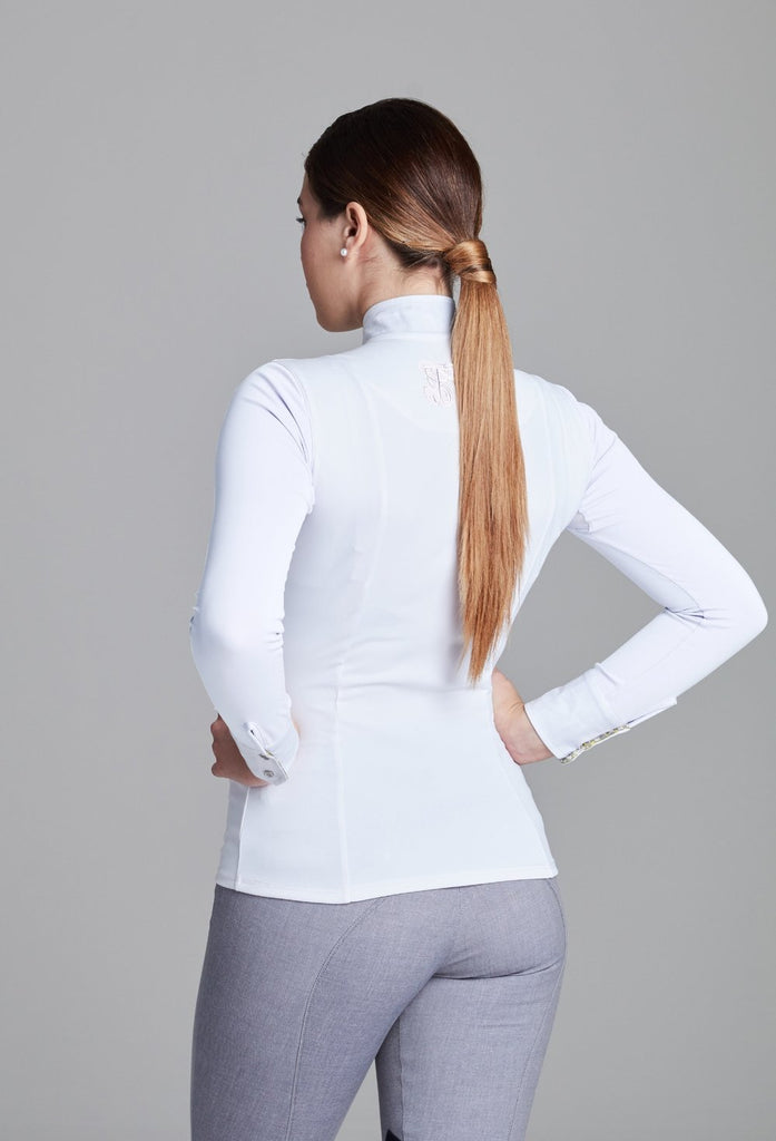 White w White Paulo Alto Long Sleeve - The Polished Rider