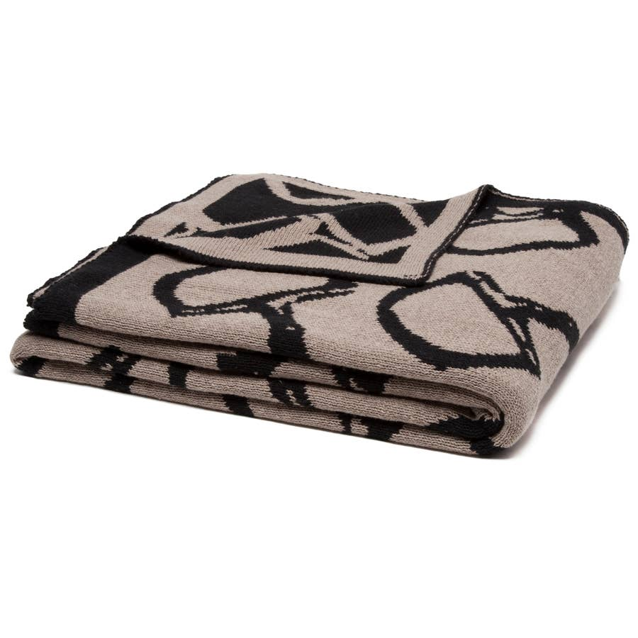 Equestrian Horse Bits Reversible Throw Blanket - The Polished Rider