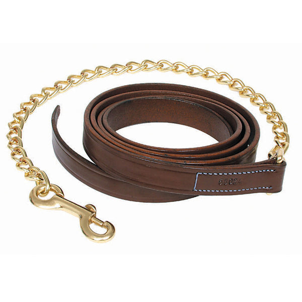 "Leather Horse Lead 30"" Chain - The Polished Rider"