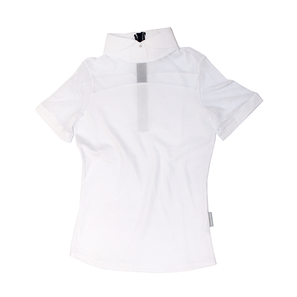 Emma Short Sleeve Pique Top - The Polished Rider