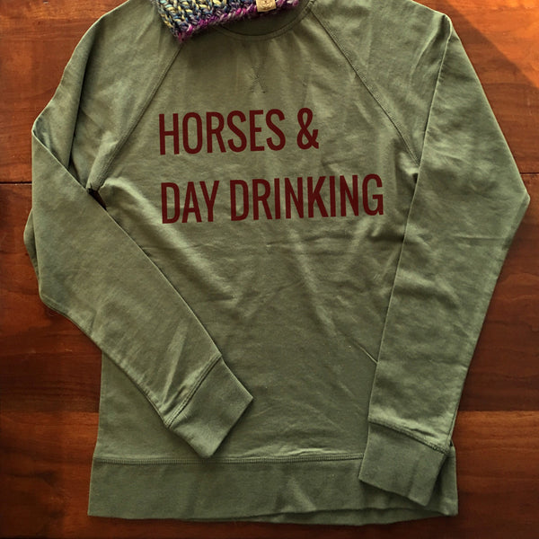 Horses & Day Drinking Pullover - The Polished Rider
