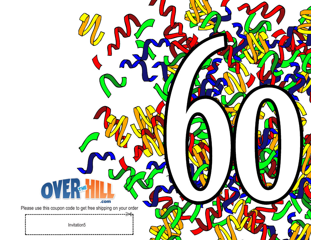 free party invitations 60th birthday