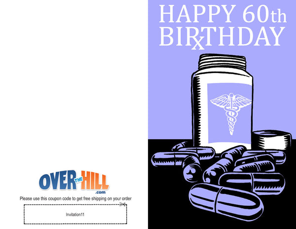 Free Party Invitations - 60th Birthday - Rx