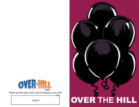 Free Party Invitations - Over the Hill - Black Balloons